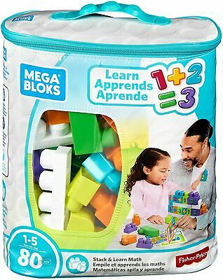 Fisher Price Mega Bloks Stack & Learn Math 80 Pieces • 10.49£