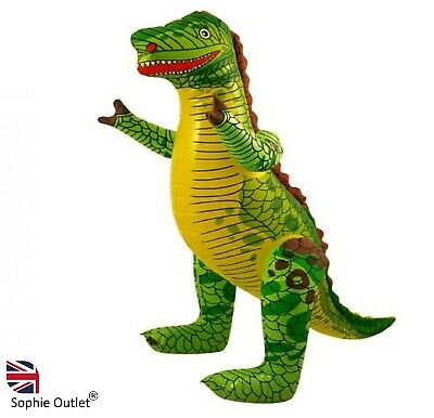 90cm LARGE INFLATABLE DINOSAUR Blow Up T-Rex Toy Dino Party Decor Kids X99352 UK • 4.30£