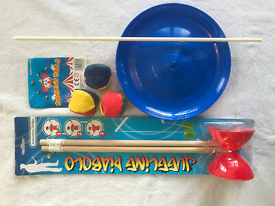 Circus Juggling Plate , Balls And Diabolo Combo Pack. Stocking Filler. • 6.50£