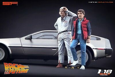1:18 Back To The Future Figurines Doc & Marty NO CAR!! For Diecast Collectors • 134.29£