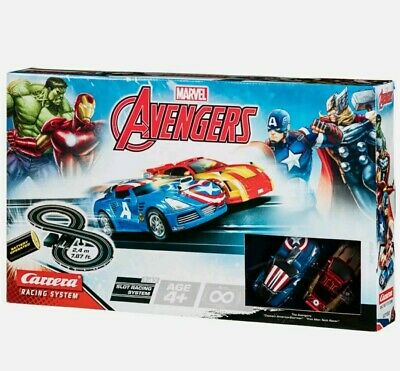 Carrera Toy Marvel Avengers Slot Car Racing Track Set With 2 Cars NEW • 28.99£