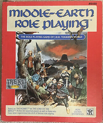 Middle Earth Role Playing Tolkien Merp 1986 Complete ICE #8100 • 20.99£