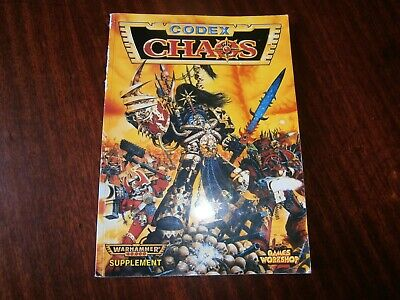 Games Workshop: Chaos Codex Supplement Good Condition Paperback - 1996 • 10£