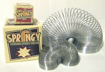 Springy Slinky Toy Set Of 2 Silver Metal Traditional Toys New CE Stamped • 10.99£