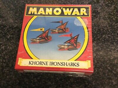 Warhammer Man O War Oop Mint Chaos Khorne Ironsharks Bnib Still Sealed #2 • 30£