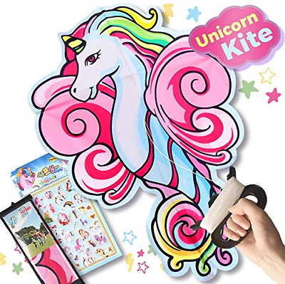 ZaxiDeel Large Unicorn Kite For Kids And Adults, 41 Inches Unicorn Shape Diamond • 13.68£