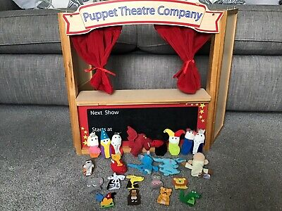 ELC Wooden Folding Puppet Theatre Company Early Learning Centre & Finger Puppets • 20£