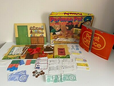 Vintage Postman Pat Post Office Set Boxed 80's Game - D Dekker Shop - Incomplete • 24.99£