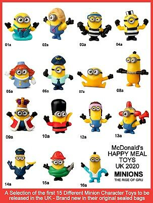 McDonald's Happy Meal Toys UK 2020 Minions Rise Of Gru Character Figures Various • 3.75£