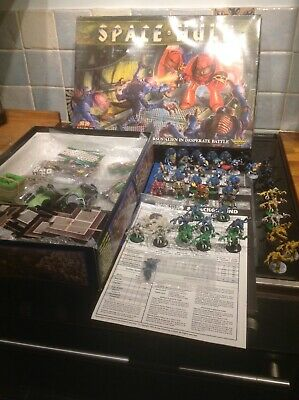 SPACE HULK & GENESTEALER BOARD GAME 1ST EDITION, Well Painted, Complete • 189£