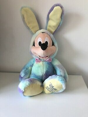 """Mickey Mouse Disney Store Easter 2020 18"""" Tall Soft Plush Toy Cardboard Tag • 14.95£"""