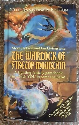 Fighting Fantasy The Warlock Of Firetop Mountain 25th Anniversary Edition Signed • 65£