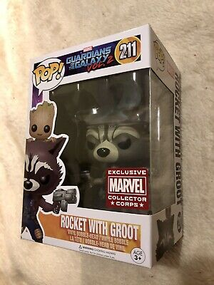 Funko Pop! Marvel 211 Rocket With Groot Collector Corps • 4.21£