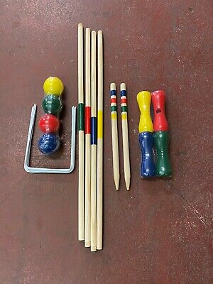 Factory Second Wooden Croquet Game (4 Players) • 7.99£