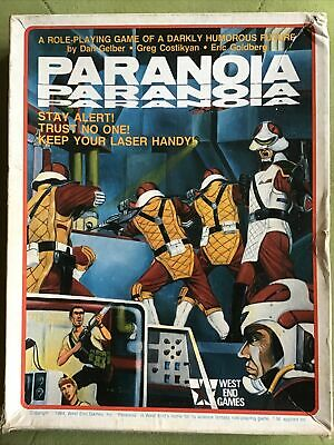 Paranoia Roleplaying West End Games First Edition Boxed Set • 26£