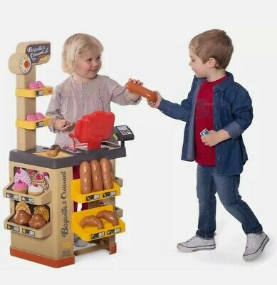 Smoby Toy Bakery Play Pretend Bread Baguette Shop Counter Money Pastries Donuts • 79£
