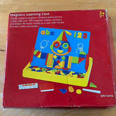 ** JOHN LEWIS MAGNETIC LEARNING CASE - ALPHABET NUMBERS SHAPES - 3+ Yrs ** • 0.99£