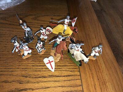 TIMPO SWOPPET 5 Foot 3 Horseback CRUSADERS Plus One Extra Unknown • 5£