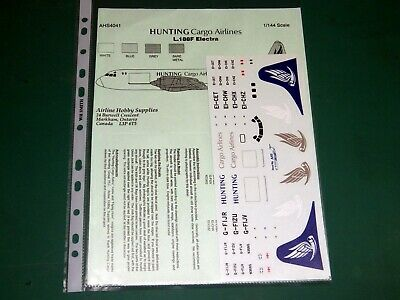 Airline Hobby Supplies Decals 1/144 4041 - L.188F Electra Hunting Cargo Lines • 7.99£