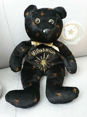 CELEBRITY BEARS Star #2000 MILLENNIUM BEAN BAG Toy 9  Plush New With Mint Tag • 4£