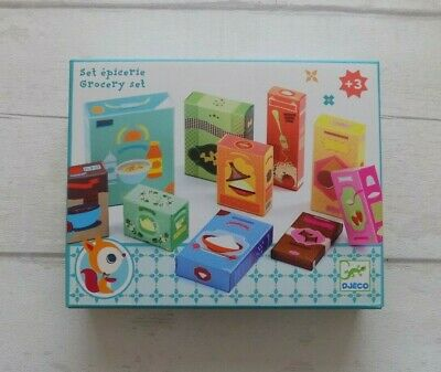 Djeco Grocery Set - Play Food Boxes For Role Play Shops And Kitchens • 9.50£