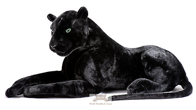 Deluxe Paws Large Black Panther Realistic Stuffed Plush Soft Toy 100cm • 19.95£