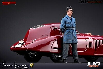 1:18 Young Enzo Ferrari  VERY RARE!!! Figurine , NO CARS !! For Alfa Romeo By SF • 66.77£