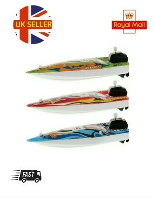 Children's Bath Toy Wind Up Speed Boat For Water Padling Pool Swimming Pool Bath • 11.09£
