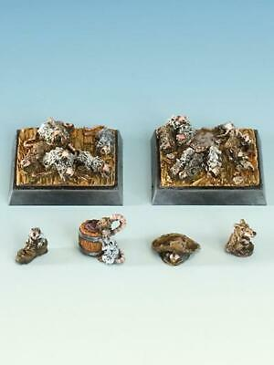 Freebooter Miniatures - Rat Swarms - SOL010 • 7.65£