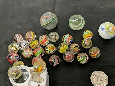 Quantity Of Victorian Handmade  Glass Marble 24 Plus Others • 299.99£