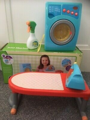 Washing Machine, Iron, Ironing Board Set With Sounds And Lights Boxed Kids Toys • 8.80£