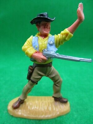 Timpo Toys Cowboy 4th Version, Sheriff In Rare Yellow Shirt • 89.99£