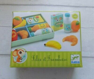 Djeco Felix And Framboise Breakfast Set - Play Food Role Play Toy • 12£