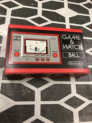 NINTENDO GAME & WATCH BALL SILVER SERIES MINT BOX CASE INSTRUCTIONS. Never Used • 19.99£