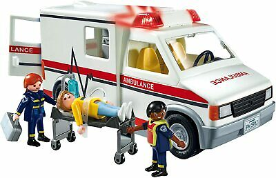 Playmobil 5681 City Action Rescue Ambulance With Sounds & Flashing Lights - NEW • 28.99£