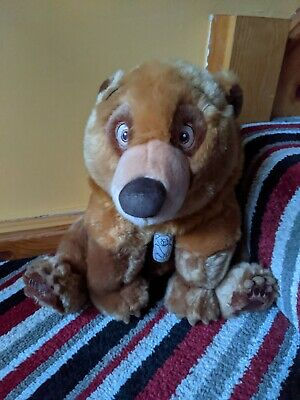 Disney Large Brother Bear Kennai With His Necklace Soft Plush Cuddly Bear 30cms  • 12.99£