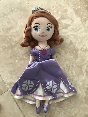 Authentic Disney Sofia The First Soft Plush Doll 34cm Tall - Excellent Condition • 3.50£
