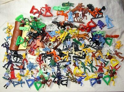 Vintage Plastic Toy Soldiers Wild West Cowboys Indians Mixed Lot • 14.99£