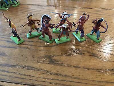 Vintage Britains Deetail Indians Native Americans,very Rare 7 Poses • 12.50£