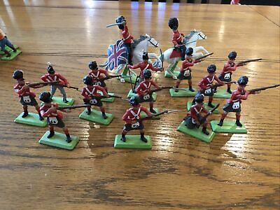 BRITAINS DEETAIL NAPOLEONIC BRITISH 2 X Mounted And 13 X Foot Soldiers • 31£