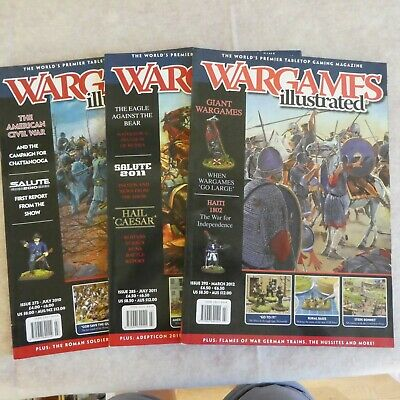 Three Wargames Illustrated Magazines - Issues 273, 285 & 293 • 0.50£