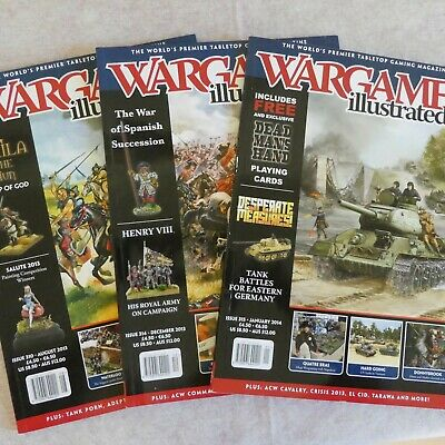 Three Wargames Illustrated Magazines - Issues 310, 314 & 315 • 0.50£