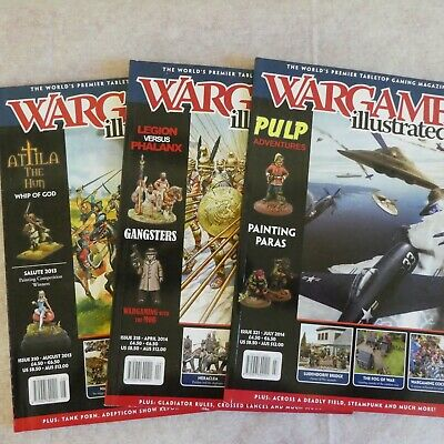 Three Wargames Illustrated Magazines - Issues 310, 318 & 321 • 0.50£