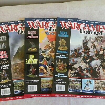 Three Wargames Illustrated Magazines - Issues 322, 323 & 326 • 0.50£
