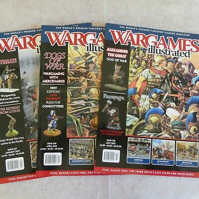Three Wargames Illustrated Magazines - Issues 327, 330 & 333 • 0.50£