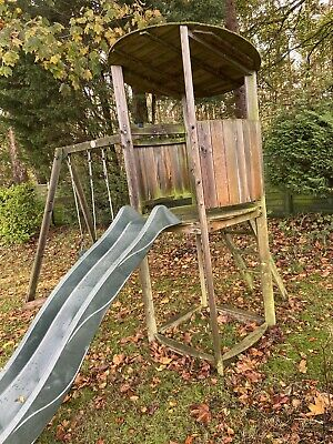 Plum Swings And Slide With Lookout Tower • 120£