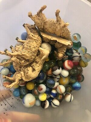 Collection Of Old Glass Marbles And Vintage Plastic Toys  • 2£