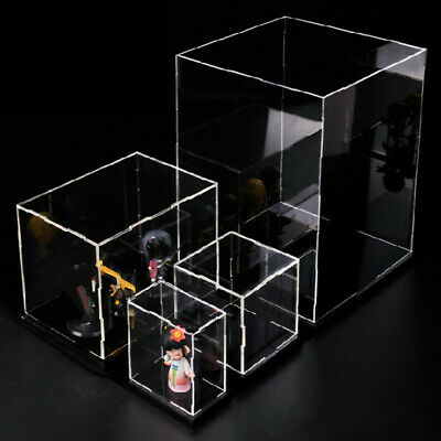 1PC Clear Acrylic Display Case Stands Box Model Figure Showcase Dustproof • 27.69£