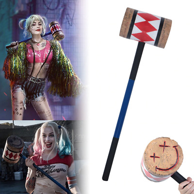 Harley Quinn Style Foam Hammer Mallet 32  Inches - Cosplay - Comic Con Safe! • 29.95£