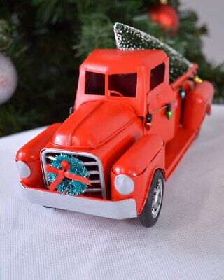 Metal Truck Christmas Decoration Table Decor Home Kids Gifts Vintage Truck Red • 5.99£
